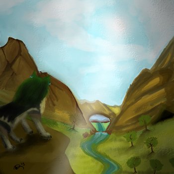 Watchful guardian of the valley by KingGhidorah2007