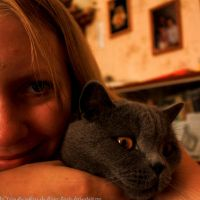 Me and My Cat by Ilman-Lintu