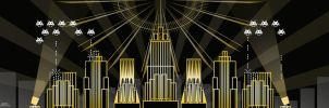 Art Deco - Invaders State Building by acharnementgraphique