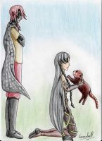 A guy, a girl and a red panda(C.E.) by Kassandra-21