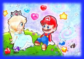 .:MarioxRosalina:. by CloTheMarioLover