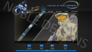 Halo 4 Follower Website Concept by iProtiige