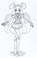Cure Happy .:Lineart:. by CandySkitty