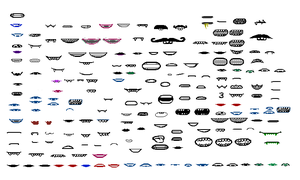 Homestuck Mouths Sprite Sheet by blahjerry