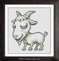 0004.Goat by PDFcrossstitch