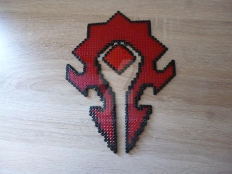 Sprite of the sign of the Horde in perler beads by Kukirio