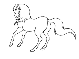 Mare Lineart by LyricTheMare