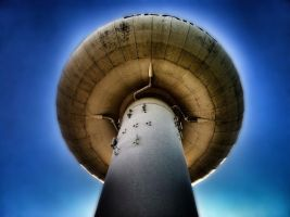 Water tower upshot by monkeyrum