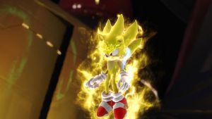 Super Sonic-In Sonic Unleashed by FiveNightsAtFoxys