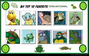 My Top 10 Favorite Turtles and Tortoises by SithVampireMaster27