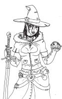 Half-Orc Witch by Pandamancer