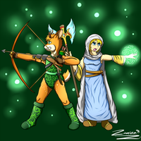 Archer and Cleric by Zanten94