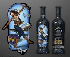 Portrait - Aviator wine labels by henning