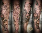 1 session Geisha asia style by 2Face-Tattoo