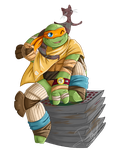 The Cute One +Michelangelo+ by Blaze-Bernatt