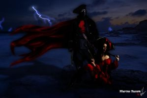 Cpt. Darkness and Red Baroness by Devitch
