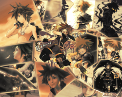 KH: Broke Memories-Sora Wall by x9TheWolf4x