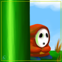 Advent Doodles Day 7 - Shy Guy by LOBrien