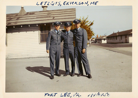 At the Fort Lee military base - 1950 by Livadialilacs