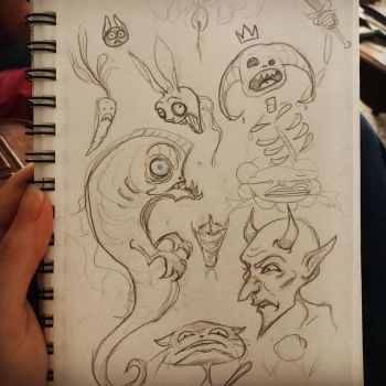 Random sketches.  by Courtney-Berthelot