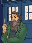 Patrick Rothfuss as the Doctor by khallion