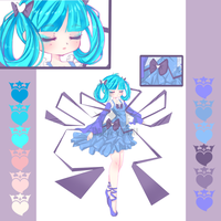 Sleeping Aqua Adopt (open) Reduced price!! by Bara-Sushi