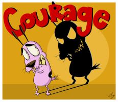 Courage the Cowardly Dog by steffy-beff