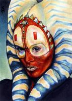 Shaak Ti Sketch Card by veripwolf