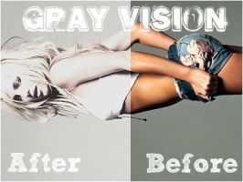 Gray Vision PS Action by Zaceboy