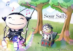Sour Sally, playing in the park by norumi