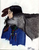 Native American, Wolf Friend by CherokeeGal1975
