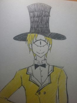 Bill Cipher (human version) by amehayaru