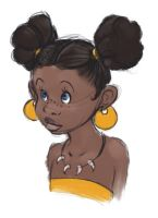 african girl by MoonLightRose17