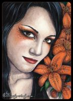 ACEO -- Tiger Lily by ElvenstarArt