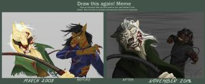 Fight or die - before and after by DraconianArtLine