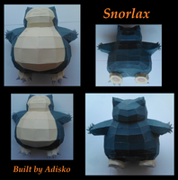 Snorlax Paper Pokemon by Adisko