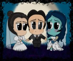 Corpse Bride Halloween Notecard by Belle-Lolita-Designs