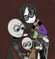 Two mothers and their Children by haru1714