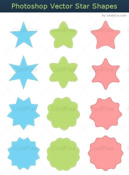 Vector Star Shapes by khatrijiya