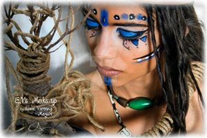 Warrior Princess Tribal Make-up by CPA-x-e-n-o-i