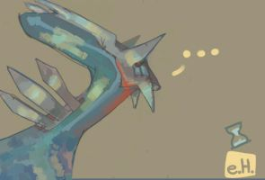 Dialga  coloured sketch by explodingHeath