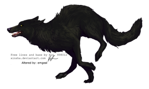 Black Wolf by emgeal