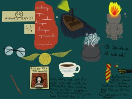 Harry Potter movie doodles by Dream--scape