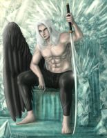 Sephiroth Materia throne (clothed) by Destinyfall