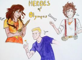 Heroes of Olympus by Cladylove