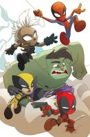 Marvel Chibis by Bloodzilla-Billy