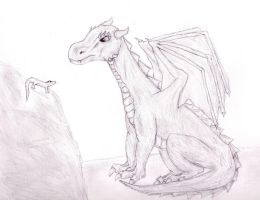 Dragon and Lizard by twistedndistorted