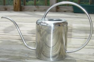 Shiny Metal Watering Can by FantasyStock