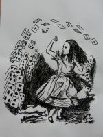 Alice with cards by Bubuka812