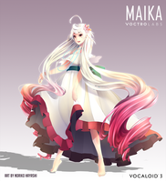 VOCALOID3 MAIKA Beach Dress Version by Noririn-Hayashi